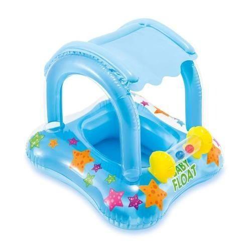 Boia Infantil com Cobertura Baby Float Intex até 15kg 56581