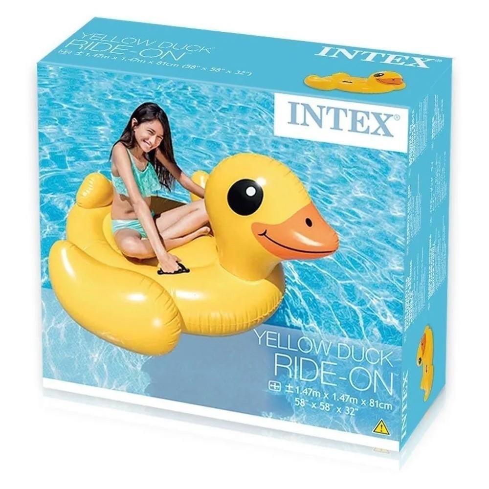 Boia Inflável para piscina Pato Amarelo Intex 57556