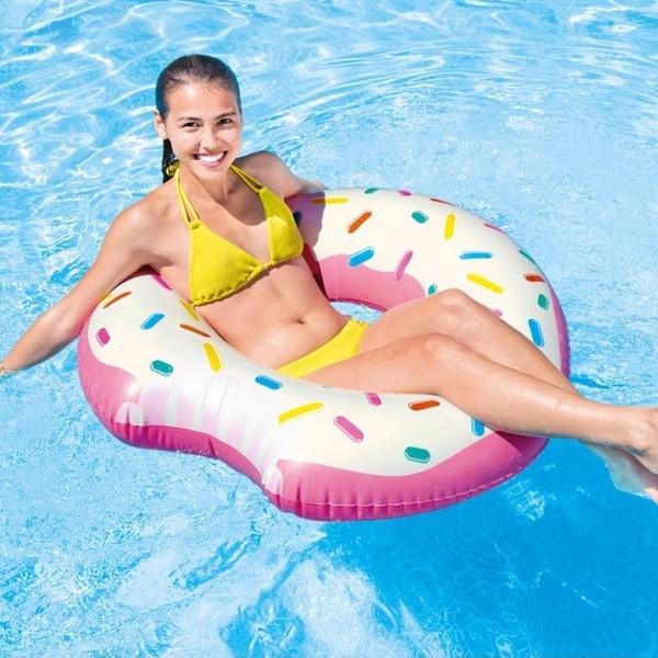 Boia Inflável para piscina Rosquinha mordida Donut Tube Redonda 94cm Intex 56265