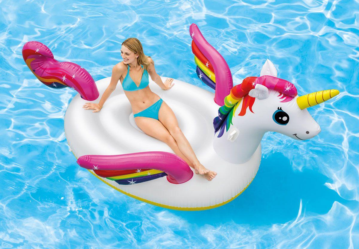 Boia Inflável para piscina Unicórnio Gigante Intex (Boia das Blogueiras Famosas)