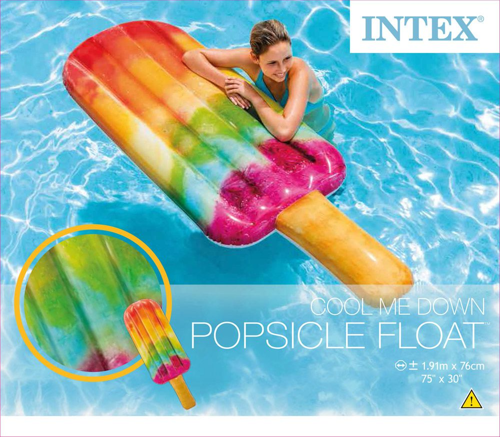Boia para piscina Picolé colorida Intex 58766 Boia divertida Inflável