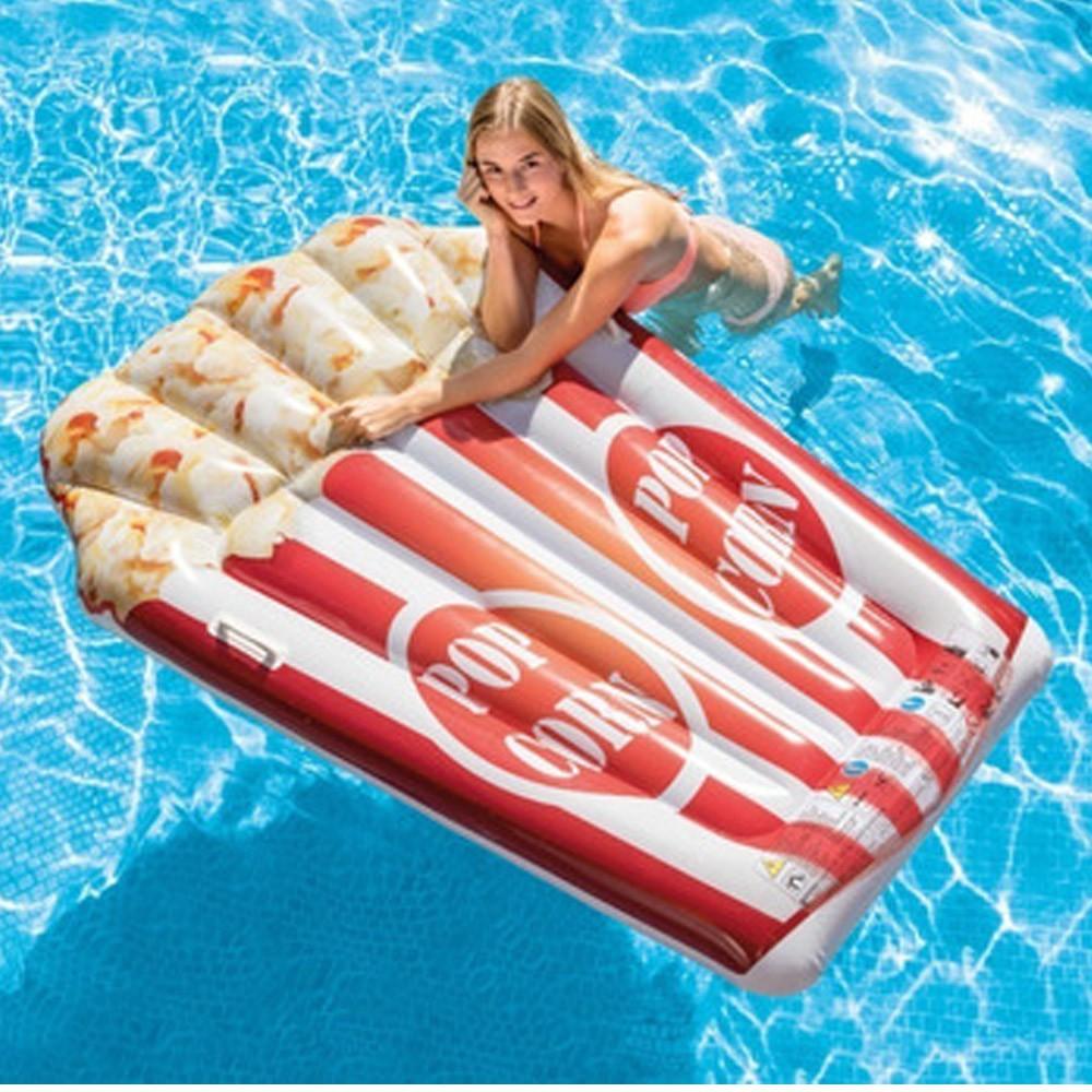 Boia Pipoca Gigante Colchão inflável para piscina Boia divertida Pipoca Intex 58779