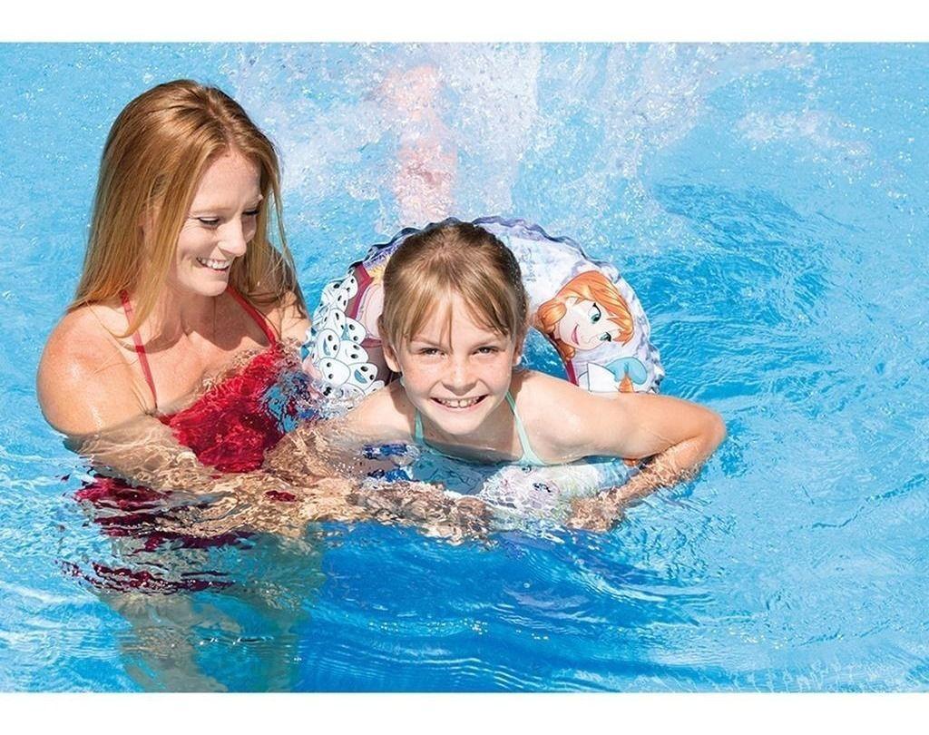 Boia redonda para criança Frozen - Boia inflável 51cm para piscina Frozen diâmetro 51cm 56201