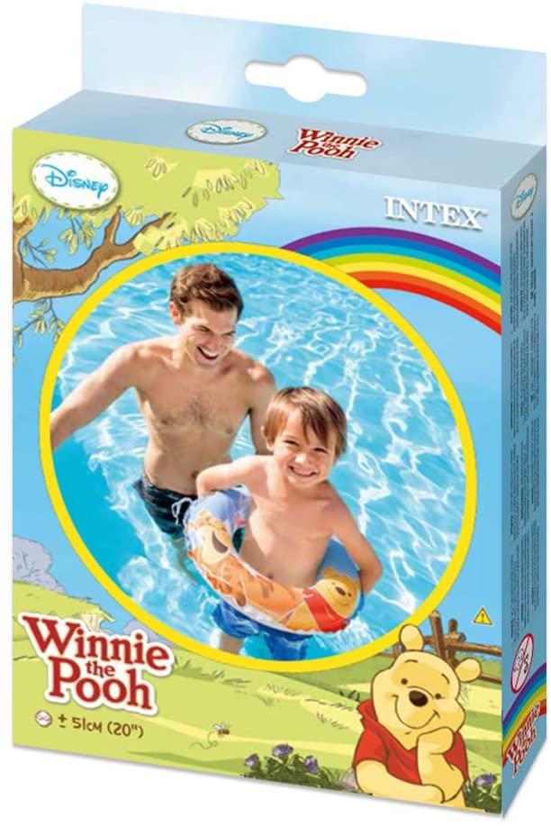 Boia redonda para criança Ursinho Pooh - Boia inflável 51cm para piscina Intex 58228NP