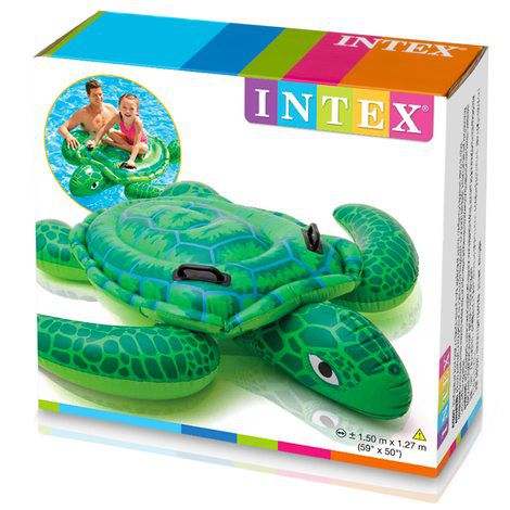 Bote inflável para piscina Boia Tartaruga do Mar Boia divertida Intex 1,50m x 1,27m