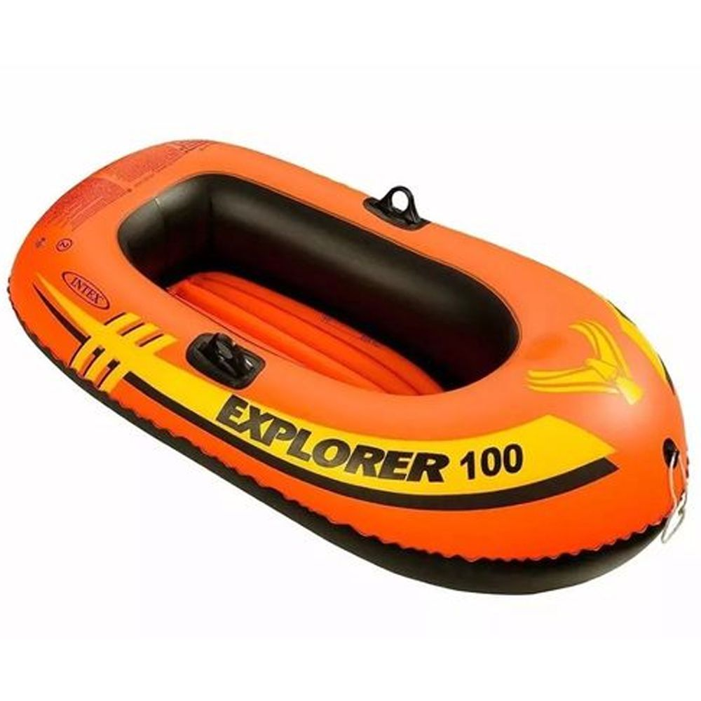 Bote Inflável Mar, piscina, lago, represa, rio Explorer 100 Intex - 1,47m X 36cm Suporta aproximadamente 55kg 58329