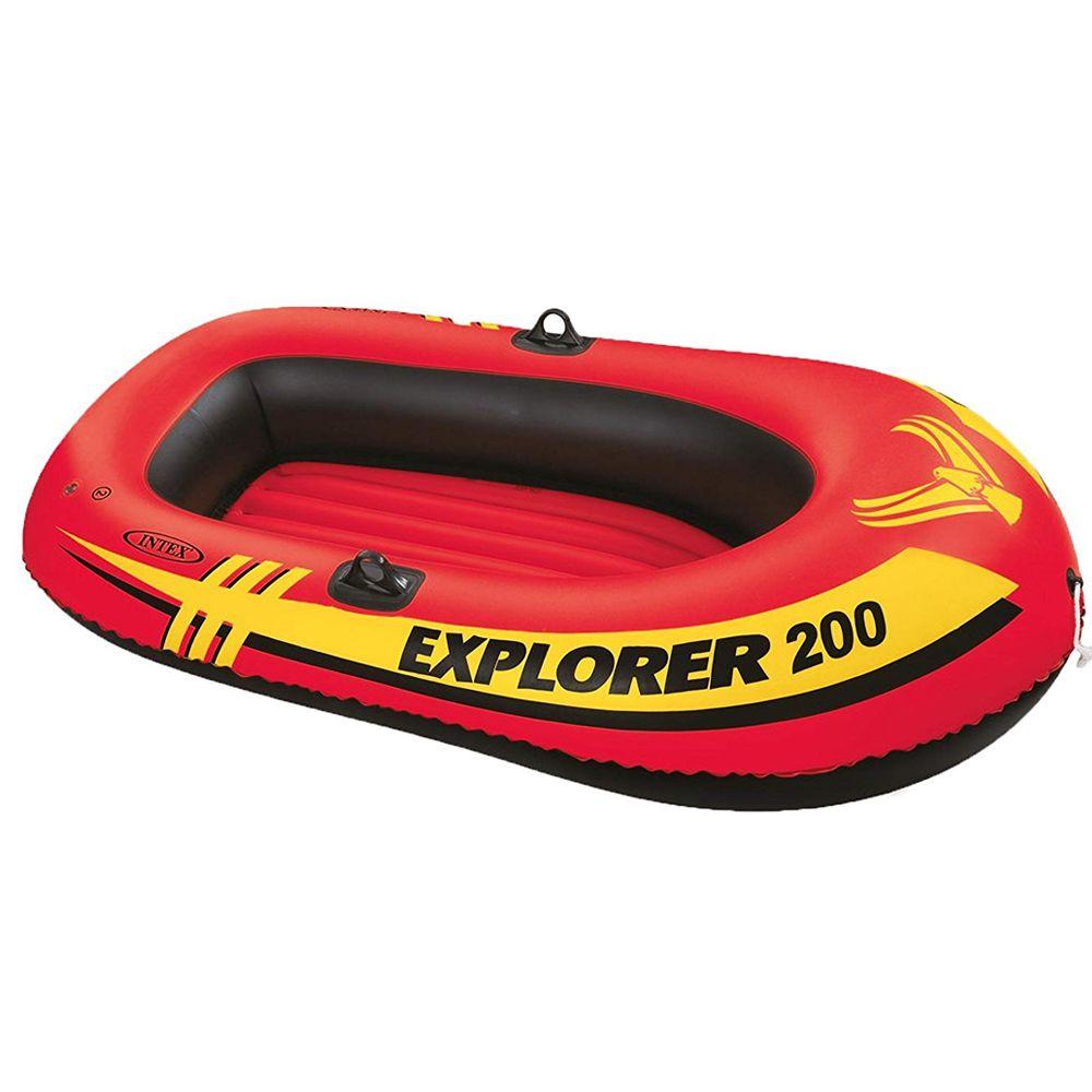 Bote Inflável Mar, piscina, lago, represa, rio Explorer 200 Intex - 1,85m X 94cm X 41cm Suporta Aproximadamente 95Kg 58330