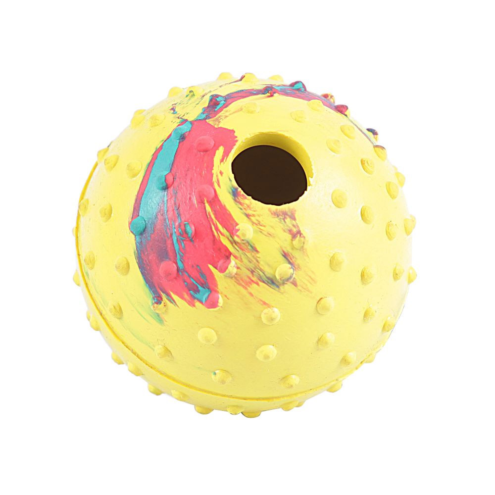 Brinquedo Bola para Cães Borracha com espaço interno para ração ou petisco. Bolinha de cachorro 8cm Chalesco