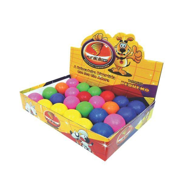 Caixa de Bolinhas para cachorro: Brinquedo Bola Para Cães Borracha Maciça 45mm 24 unidades