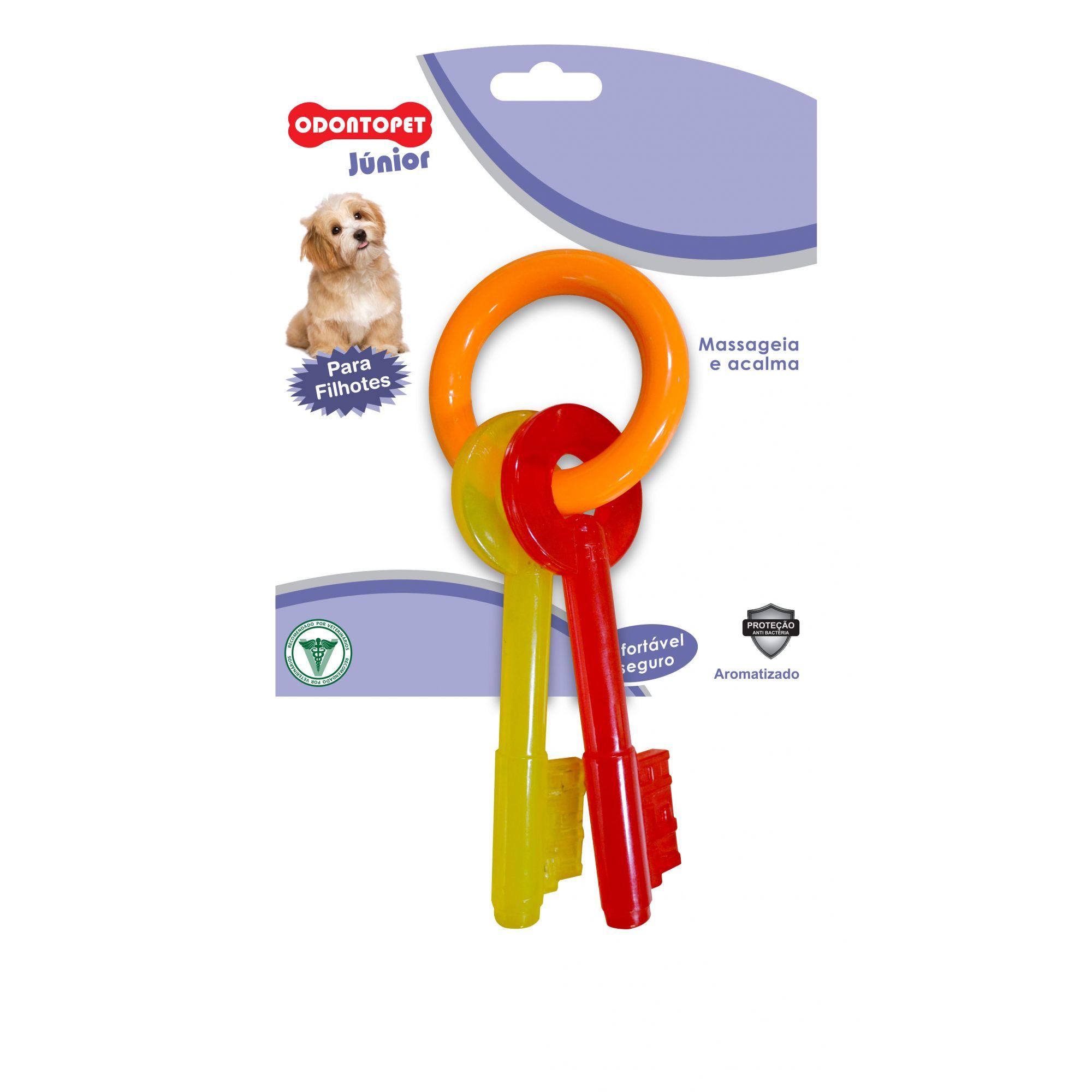Brinquedo Chave para cachorro mordedor super resistente Odontopet mastigação redução de tártaros para cães filhotes