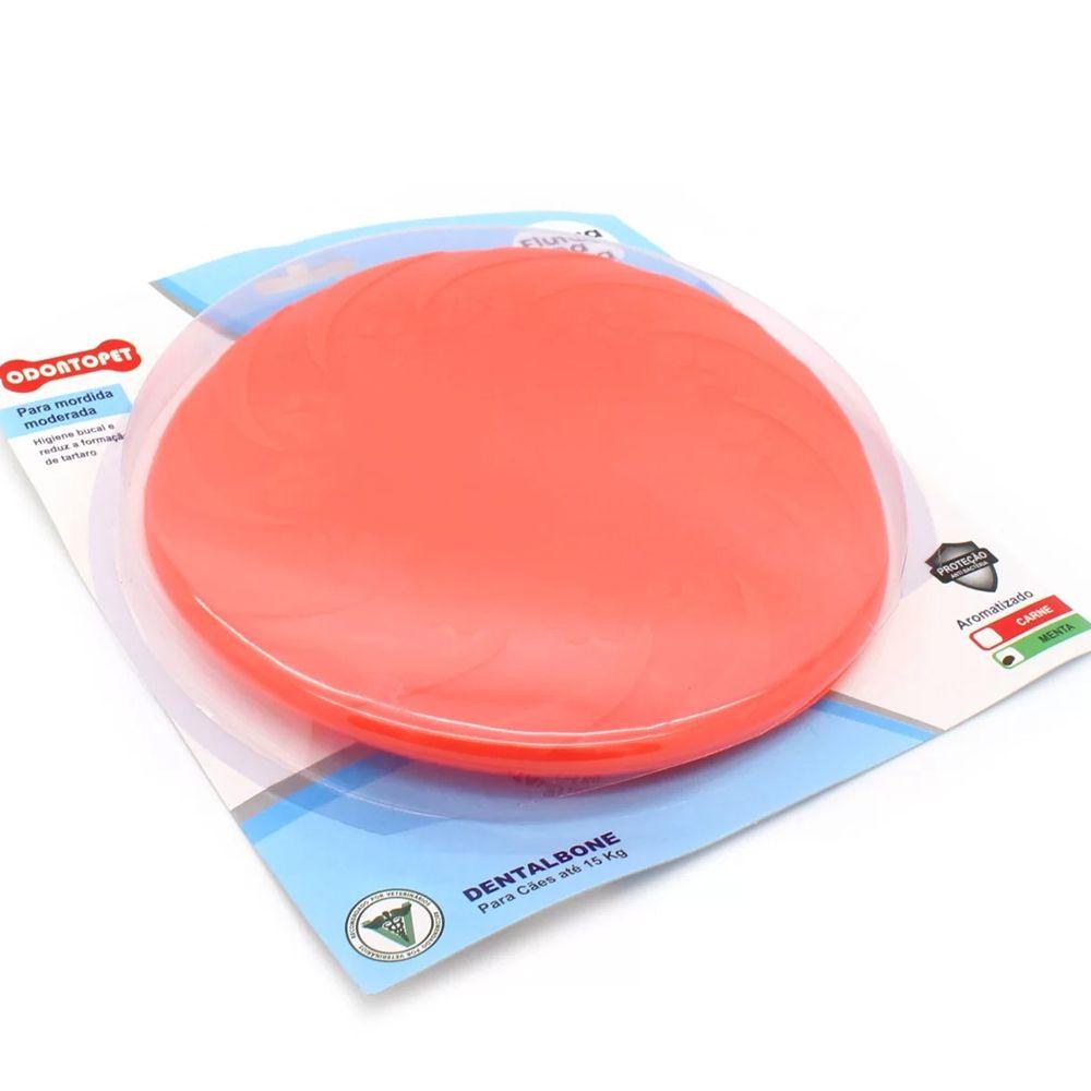 Brinquedo Disco de jogar Frisbee para cachorro mordedor super resistente Odontopet Dental Menta Higiene Bucal e reduz formação de tártaro