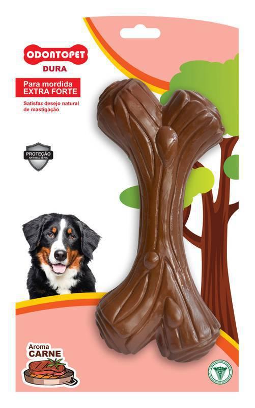 Brinquedo Mordedor de cachorro Extra forte super resistente Dura Dog Wood cães grande porte +22Kg Odontopet Aroma de carne