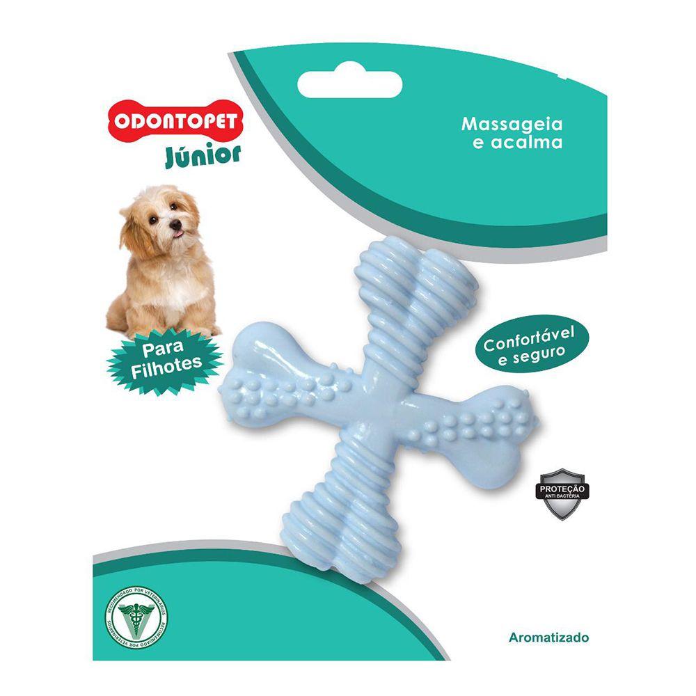 Brinquedo Mordedor para cachorro Spinner super resistente Odontopet mastigação para cães filhotes Azul