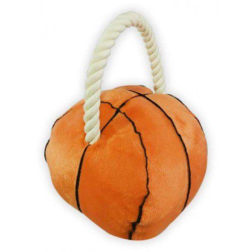 Brinquedo para cachorro Bola de basquete pelúcia com puxador de corda The Pet's Brasil