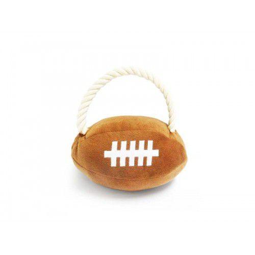 Brinquedo para cachorro Bola de Futebol Americano pelúcia com puxador de corda The Pet's Brasil