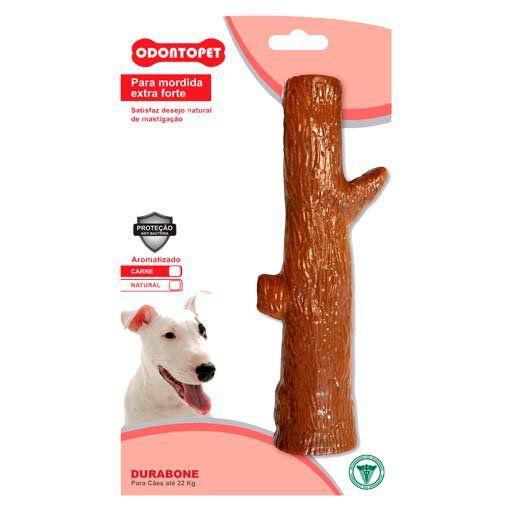 Brinquedo Mordedor de cachorro super resistente Odontopet Durabone Tronco sabor carne Extra Forte Cães raças grandes