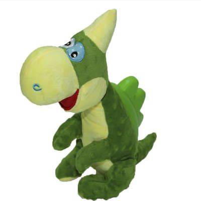 Brinquedo para cachorro pelúcia Dragão Verde PetDragon Chalesco - Brinquedo mordedor sonoro de pelúcia para cães 43cm