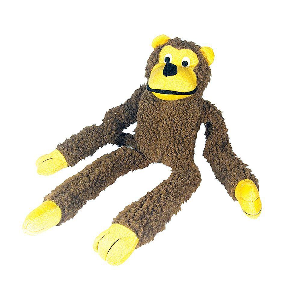 Brinquedo para cachorro pelúcia Macaco Chalesco - Brinquedo mordedor sonoro de pelúcia para cães 48cm