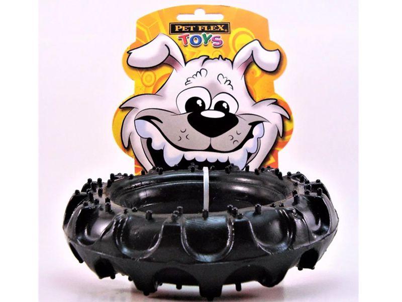 Brinquedo para cachorro Pneu Super resistente Pet Flex - G 15cm