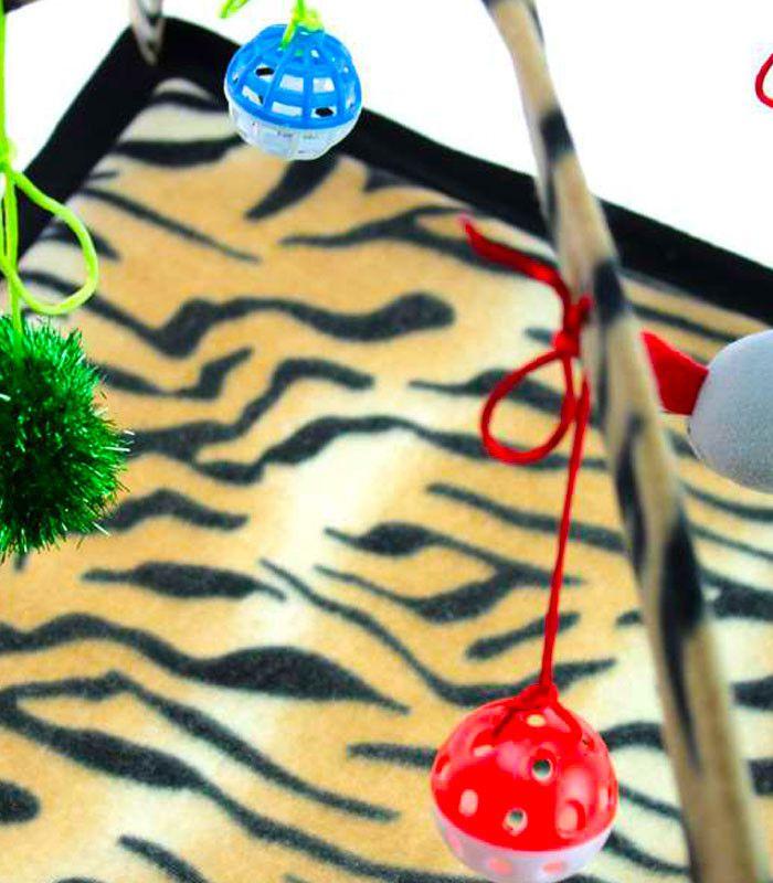 Brinquedo para gato: Tenda com bolinhas, pêndulos e brinquedos para Gato Chalesco