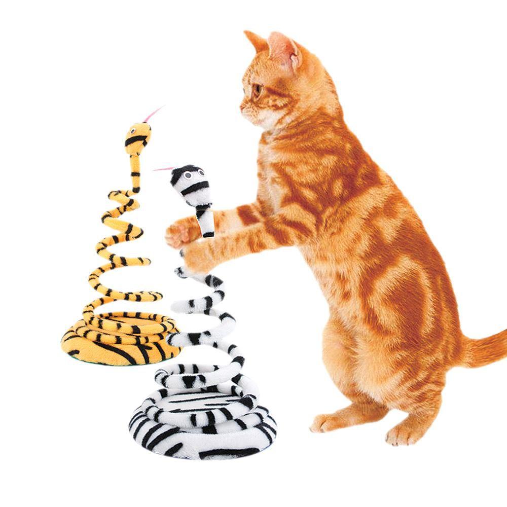 Brinquedo para gatos joão bobo pelúcia chalesco arranhador em mola vai e vem para gatos