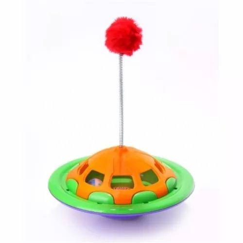 Brinquedo para Gatos Navcat Truqys Brincadeira interativa libera petisco para o gato Verde/laranja