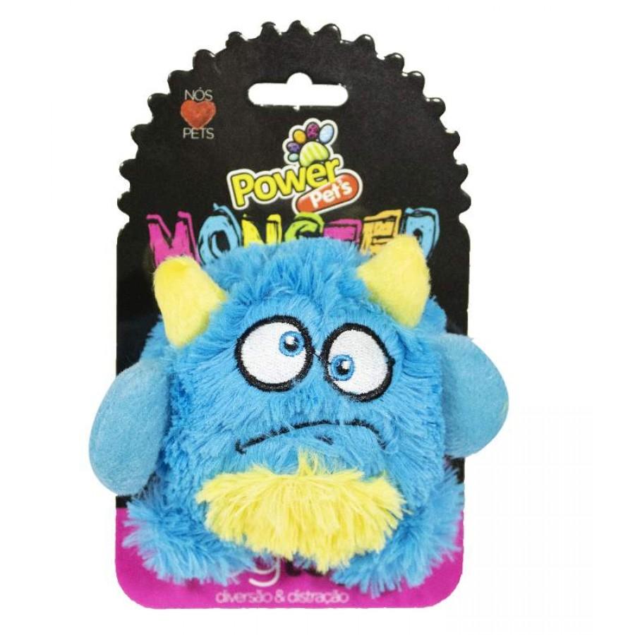 Brinquedo Pelúcia Para Pets Monster PowerPets Tamanho M Diminui ansiedade e stress