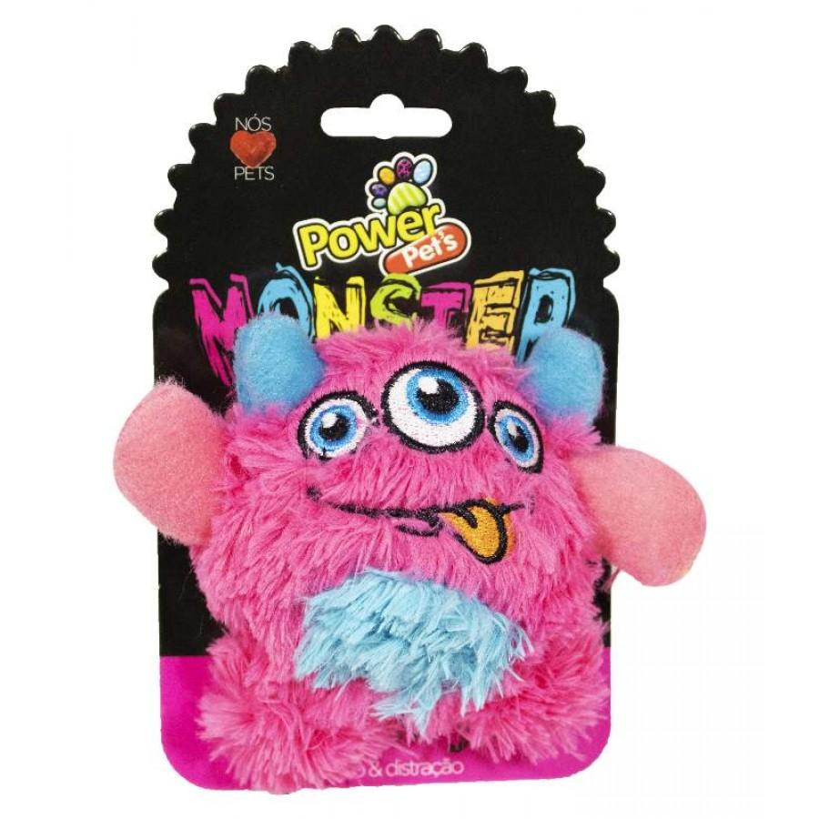 Brinquedo Pelúcia Para Pets Monster PowerPets Tamanho P Diminui ansiedade e stress