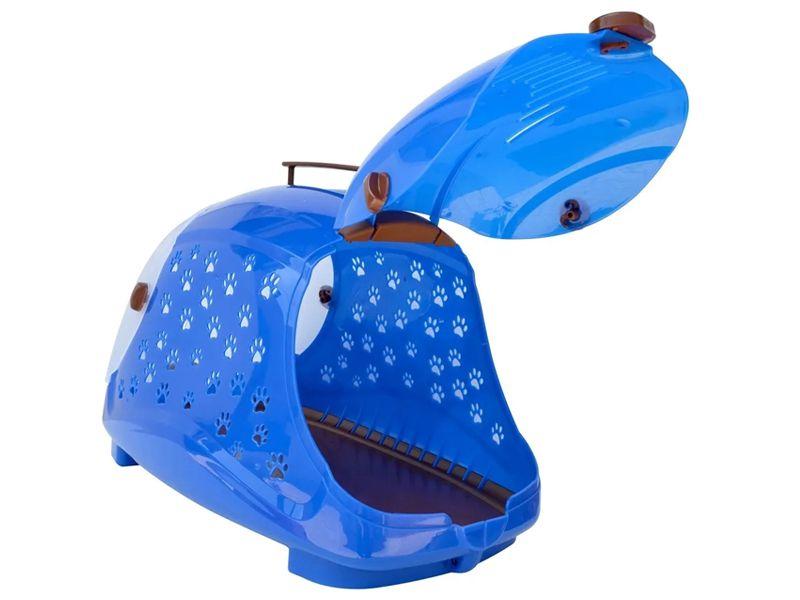 Caixa De Transporte Para Cães Raças pequenas E Gatos Pet Flex Azul - Máximo 7Kg