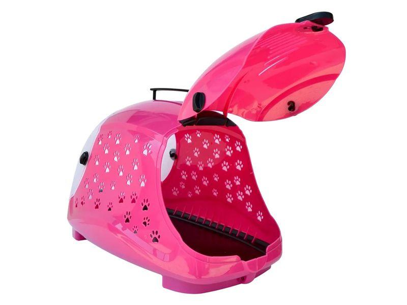 Caixa De Transporte Para Cães Raças pequenas E Gatos Pet Flex Rosa - Máximo 7Kg