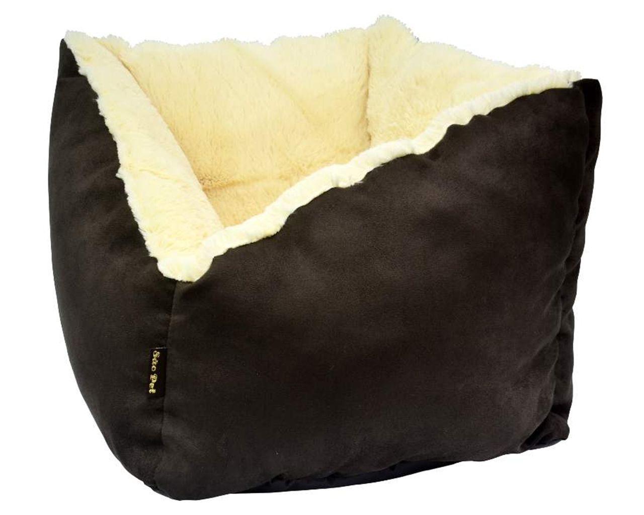 Cama para Cães ou Gatos de sued com tecido interno de ovelha fofinho. Caminha cachorro ou gato modelo Napoli São Pet