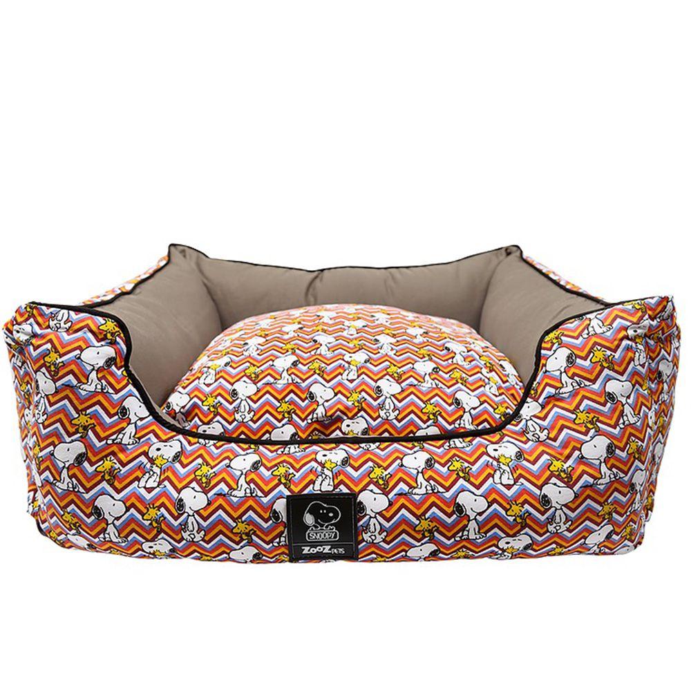 Caminha para Cachorro ou Gato Snoopy ZigZag Zooz Pet Cama cães tamanho M 65cm x 55cm Snoopy