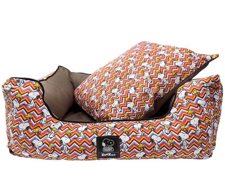 Cama para cachorro Zooz Pet Snoopy Desenho ZigZag Caminha Cães Gatos Tamanho P: 50cm x 40cm Snoopy