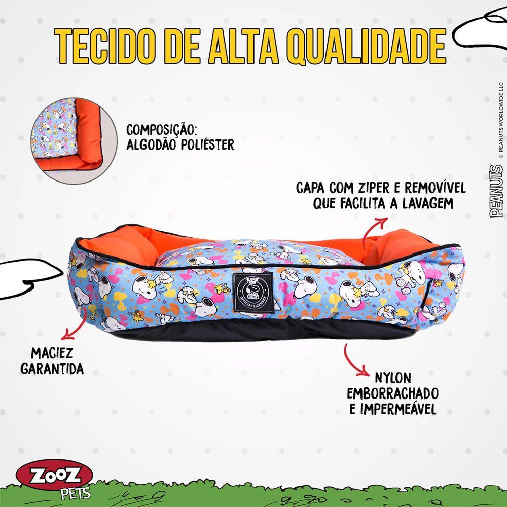 Caminha Snoopy Cachorro ou Gato Modelo Unix Tam M - Cama Zooz Pets Snoopy Cães Tam M: 74cm x 54cm x 20cm