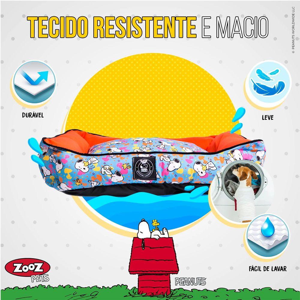 Caminha Snoopy Cachorro ou Gato Unix Tam P - Cama Zooz Pets Snoopy Cães Tam P: 64cm x 50cm
