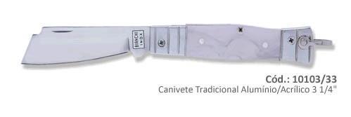 Canivete Bianchi Tradicional Alumínio/Acrílico 3 1/4