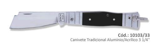 "Canivete Bianchi Tradicional Alumínio/Acrílico 3 1/4"""