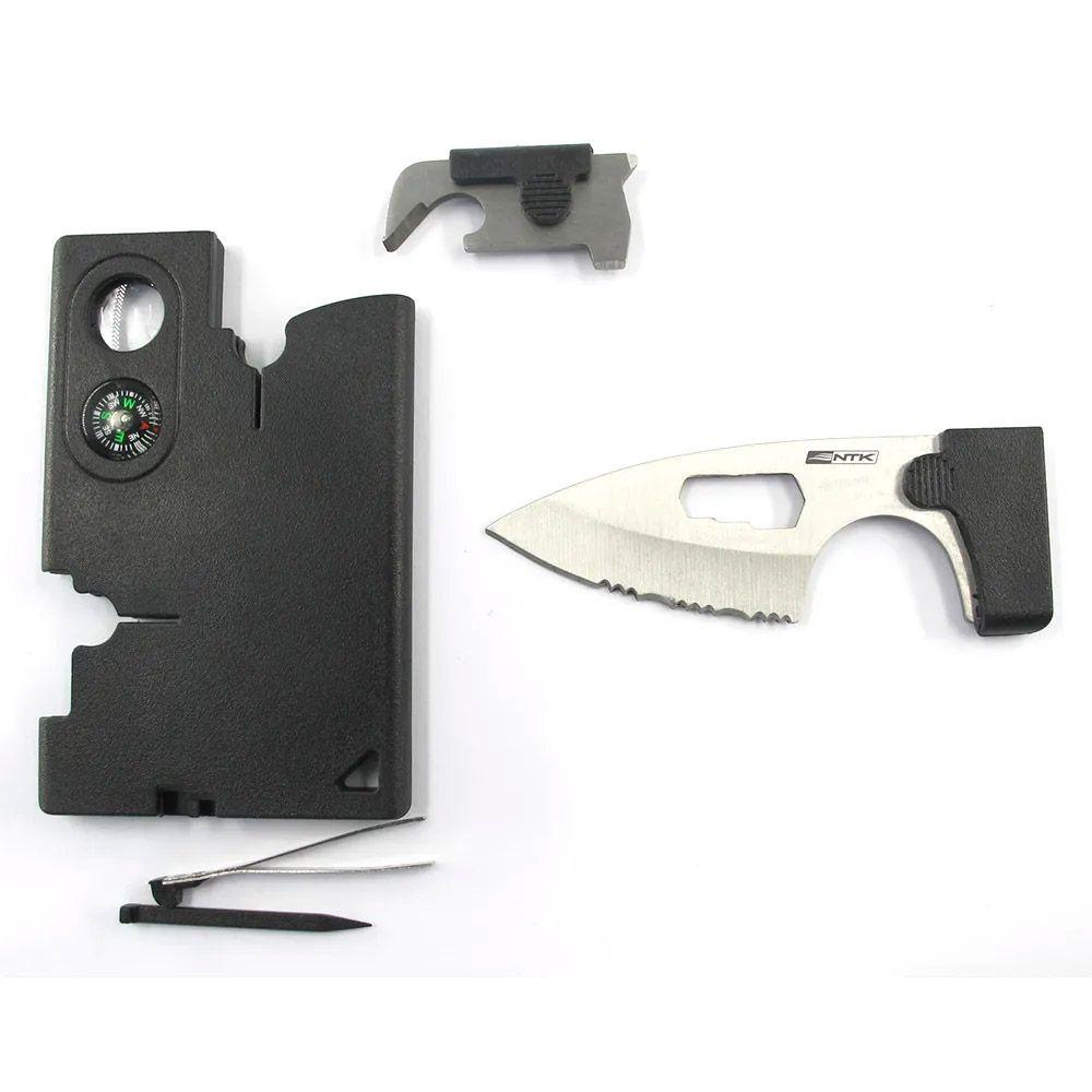 Canivete Cartão de Sobrevivência Tático Flat NTK