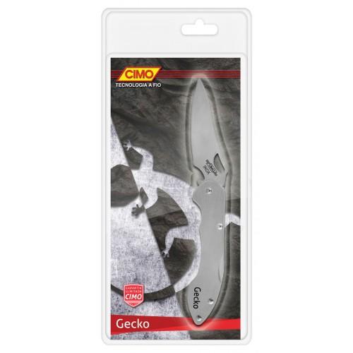 Canivete Cimo Gecko 6 Cabo Inox com Clip
