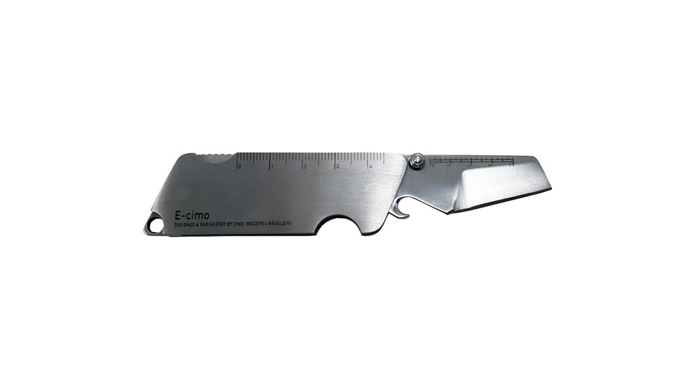 Canivete Cimo Inox E-Cimo Tool Lâmina lisa 4 funções