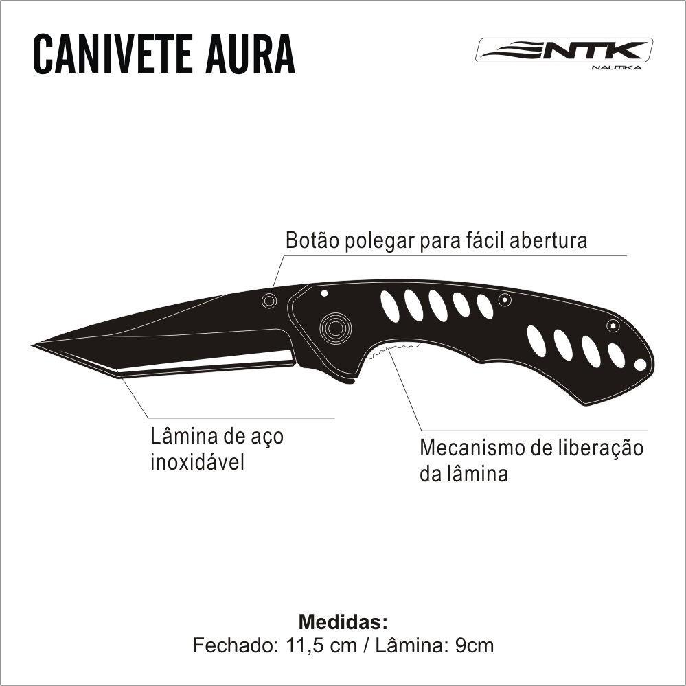 Canivete Camuflado Aura Nautika