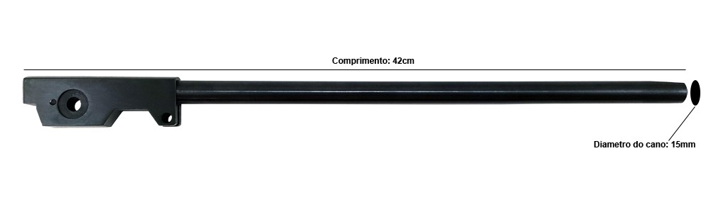 Cano Carabina de Pressão 4,5mm CBC B19