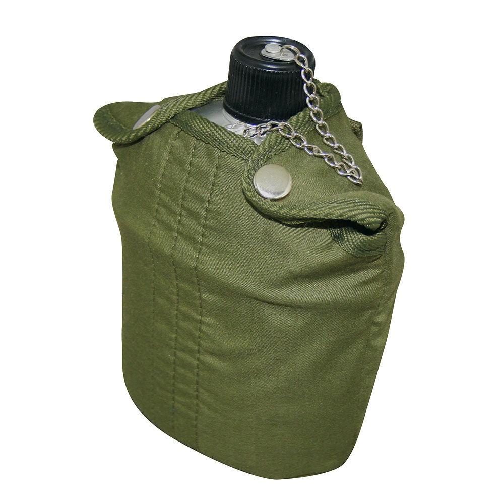Cantil Militar de Alumínio Atóxico NTK 0,9L com capa térmica de algodão