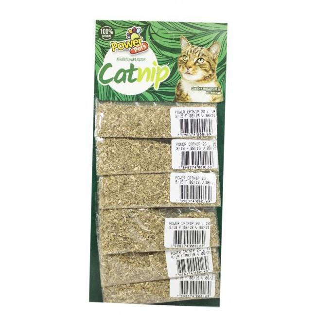 Cartela Catnip atrativo Erva do gato com 6 pacotinhos de 2g