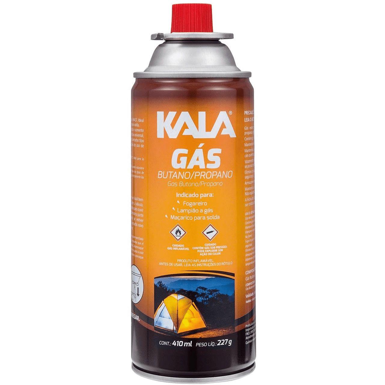 Cartucho de gás Butano Propano para Fogareiro 227g Kala
