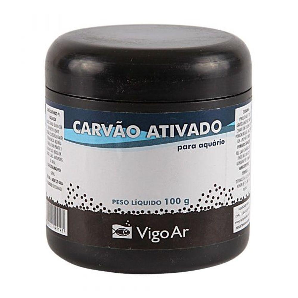 Carvão Ativado Vigo Ar para reposição em filtros de Aquário Vigo Ar Carvomax 100g