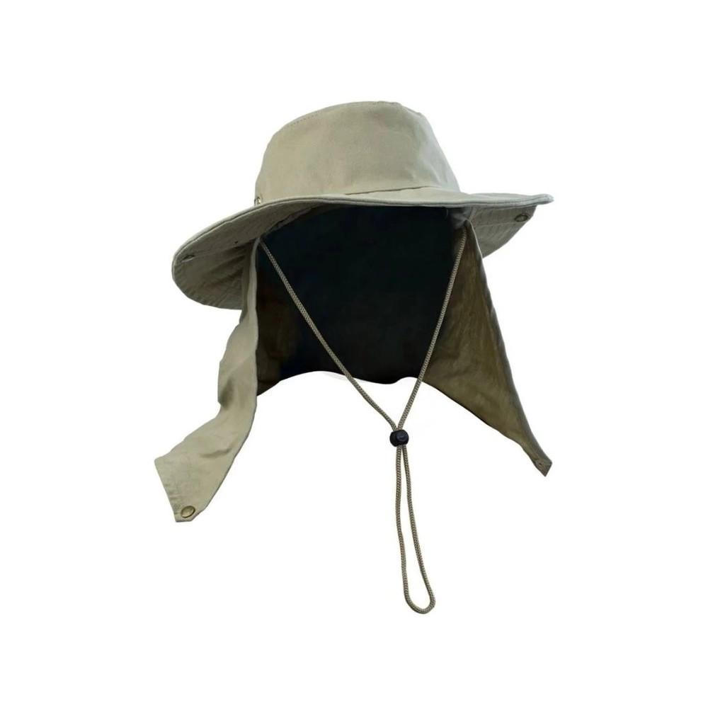 Chapeu com proteção Pescador Safari Jogá Caqui