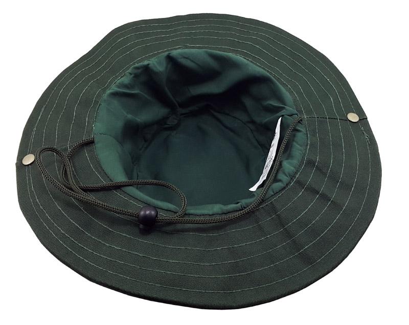 Chapéu para pesca e camping com forro em algodão, cordão com regulagem e fecho em metal Safari Jogá