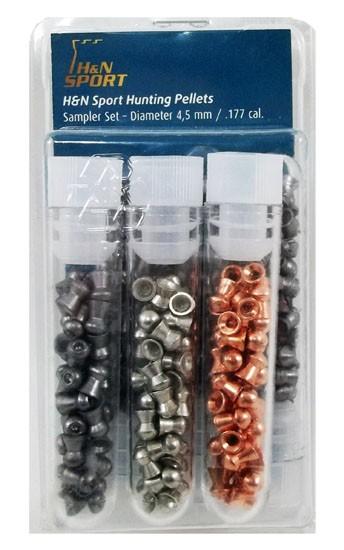 Chumbinho H&N pacote misto com 6 tipos - 4,5mm