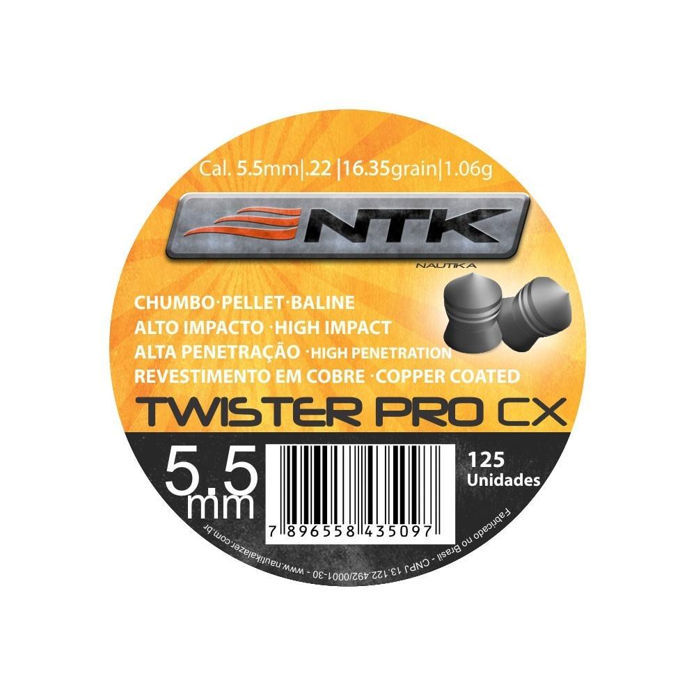 Chumbinho NTK Tático Twister Pro 5,5mm